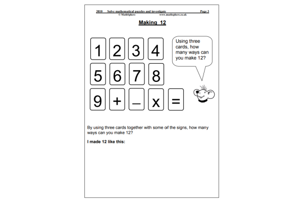 Solve Maths Puzzles (Key Stage 2)