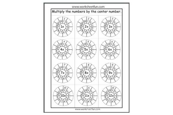 Multiplication Target Circles (Key Stage 2)