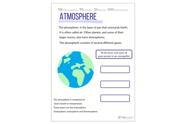 Atmosphere (Key Stage 1)