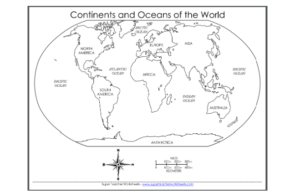 Continents & Oceans (Key Stage 2)