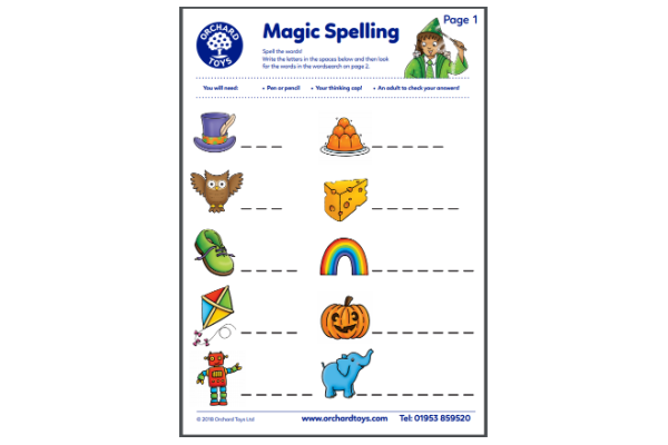 Spelling Activity Sheet (Key Stage 1)
