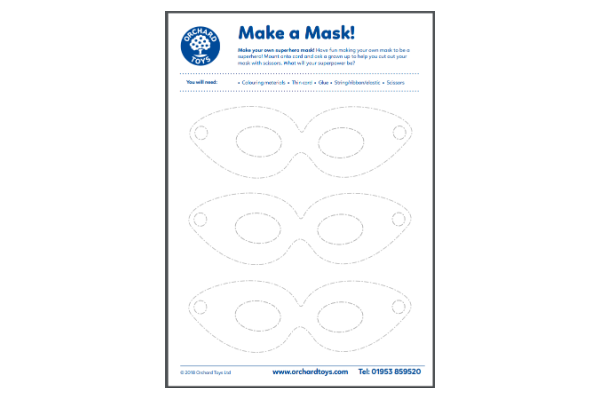 Design A Superhero Mask (Key Stage 1)