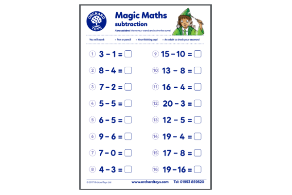 Magic Maths Subtraction (Key Stage 1)