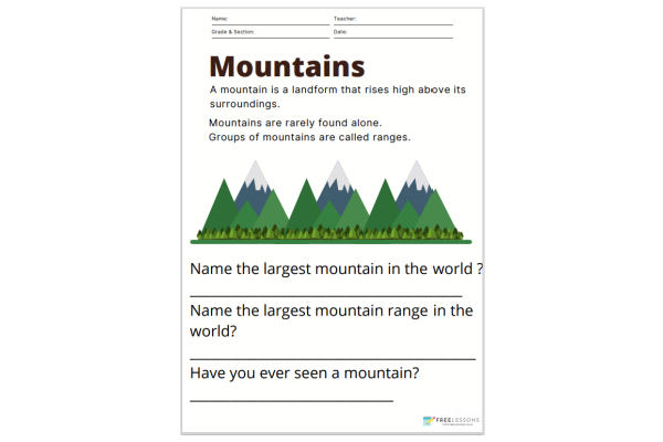 Mountains (Key Stage 1)