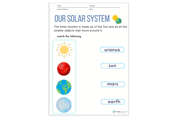 Our Solar System Planets (Key Stage 1)
