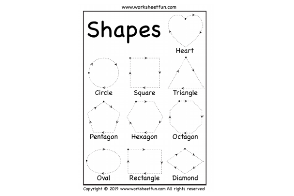 Tracing Shapes (Key Stage 1)