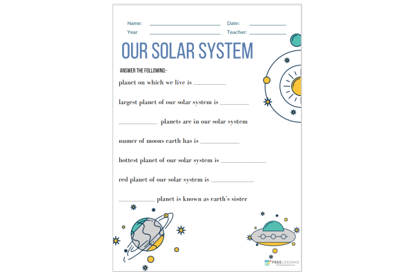 Our Solar System (Key Stage 1)