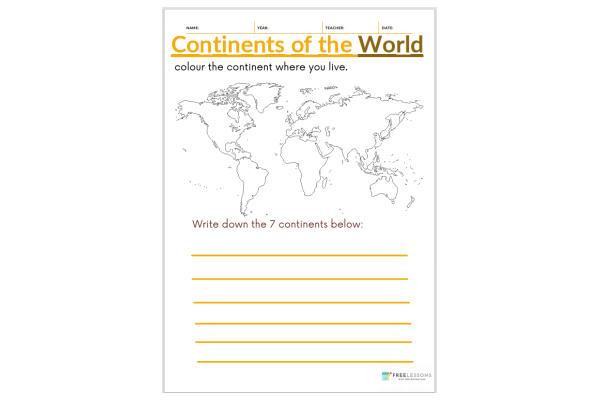 Continents Of The World (Key Stage 1)