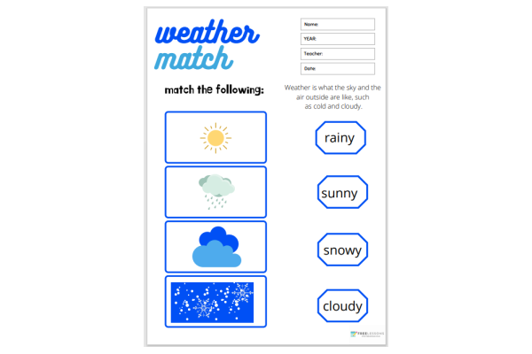 Weather Match (Key Stage 1)